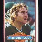1980 Topps Football #405 Richard Todd - New York Jets