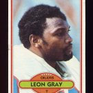 1980 Topps Football #404 Leon Gray - Houston Oilers