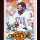 1980 Topps Football #198 Richard Caster - Houston Oilers