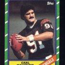 1986 Topps Football #264 Carl Zander - Cincinnati Bengals