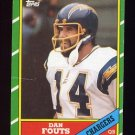 1986 Topps Football #231 Dan Fouts - San Diego Chargers