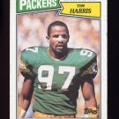 1987 Topps Football #358 Tim Harris RC - Green Bay Packers