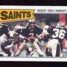1987 Topps Football #272 New Orleans Saints Team Leaders / Bobby Hebert
