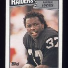 1987 Topps Football #223 Lester Hayes - Los Angeles Raiders