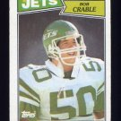 1987 Topps Football #138 Bob Crable - New York Jets