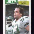 1987 Topps Football #137 Marty Lyons - New York Jets VgEx