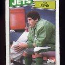 1987 Topps Football #128 Pat Ryan - New York Jets