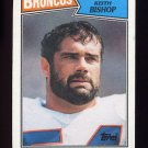 1987 Topps Football #037 Keith Bishop - Denver Broncos
