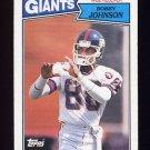 1987 Topps Football #014 Bobby Johnson - New York Giants