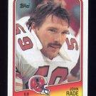 1988 Topps Football #393 John Rade RC - Atlanta Falcons