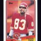 1988 Topps Football #365 Stephone Paige - Kansas City Chiefs