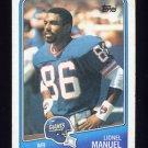 1988 Topps Football #276 Lionel Manuel - New York Giants