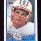 1988 Topps Football #115 Jeff Donaldson - Houston Oilers