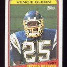 1988 Topps Football #002 Vencie Glenn RB - San Diego Chargers