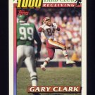 1991 Topps Football 1000 Yard Club #09 Gary Clark - Washington Redskins