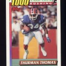 1991 Topps Football 1000 Yard Club #03 Thurman Thomas - Buffalo Bills