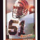 1991 Topps Football #255 Leon White - Cincinnati Bengals