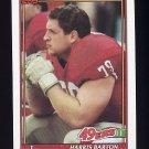 1991 Topps Football #077 Harris Barton - San Francisco 49ers