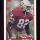 1991 Topps Football #075 John Taylor - San Francisco 49ers