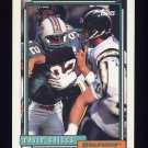 1992 Topps Football #588 David Griggs - Miami Dolphins