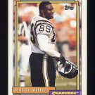 1992 Topps Football #387 Derrick Walker - San Diego Chargers
