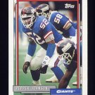 1992 Topps Football #127 Pepper Johnson - New York Giants