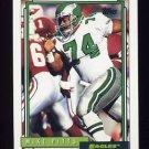 1992 Topps Football #105 Mike Pitts - Philadelphia Eagles