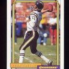 1992 Topps Football #010 John Friesz - San Diego Chargers