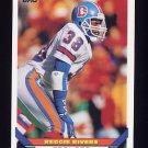 1993 Topps Football #491 Reggie Rivers RC - Denver Broncos