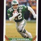 1993 Topps Football #487 Via Sikahema - Philadelphia Eagles