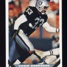1993 Topps Football #397 Eddie Anderson - Los Angeles Raiders