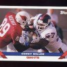 1993 Topps Football #353 Corey Miller - New York Giants