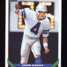 1993 Topps Football #021 John Kasay - Seattle Seahawks