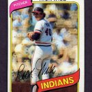 1980 Topps Baseball #725 Rick Wise - Cleveland Indians