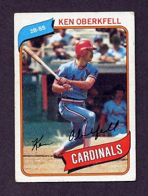 1980 Topps Baseball #701 Ken Oberkfell RC - St. Louis Cardinals Vg