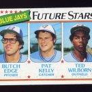 1980 Topps Baseball #674 Butch Edge / Pat Kelly / Ted Wilborn - Toronto Blue Jays