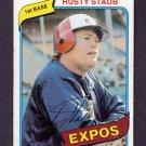 1980 Topps Baseball #660 Rusty Staub - Montreal Expos