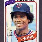 1980 Topps Baseball #657 Dave Edwards RC - Minnesota Twins
