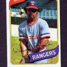1980 Topps Baseball #656 Larvell Blanks - Texas Rangers Vg