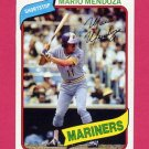 1980 Topps Baseball #652 Mario Mendoza - Seattle Mariners