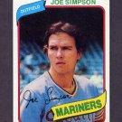 1980 Topps Baseball #637 Joe Simpson - Seattle Mariners