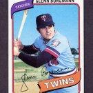 1980 Topps Baseball #634 Glenn Borgmann - Minnesota Twins Ex