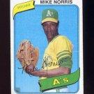 1980 Topps Baseball #599 Mike Norris - Oakland A's G