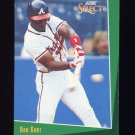 1993 Select Baseball #133 Ron Gant - Atlanta Braves