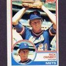 1983 Topps Baseball #739 Rick Ownbey - New York Mets
