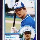 1983 Topps Baseball #714 Wayne Nordhagen - Toronto Blue Jays