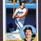 1983 Topps Baseball #692 Denny Walling - Houston Astros