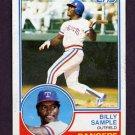 1983 Topps Baseball #641 Billy Sample - Texas Rangers