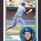 1983 Topps Baseball #608 Don Money - Milwaukee Brewers