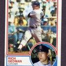 1983 Topps Baseball #602 Rich Gedman - Boston Red Sox